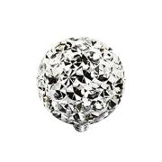 Dermal Anchor Kristall Kugel silber Epoxy Schutzschicht