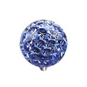 Dermal Anchor Kristall Kugel hellblau Epoxy Schutzschicht