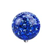 Dermal Anchor Kristall Kugel dunkelblau Epoxy Schutzschicht