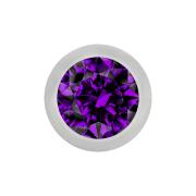 Micro Kugel silber mit Kristall violett