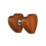 Fake Plug Herz aus Sawo Holz