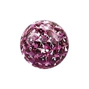 Micro Kristall Kugel hellviolett mit Epoxy Schutzschicht