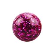 Micro Kristall Kugel fuchsia mit Epoxy Schutzschicht