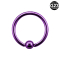 Micro Ball Closure Ring violett