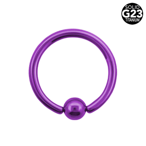 Ball Closure Ring violett