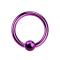 Ball Closure Ring violett