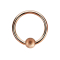 Micro Ball Closure Ring rosegold gesprenkelt