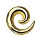 Dehnspirale vergoldet