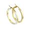 Ohrring vergoldet flach Labyrinth mit Kristallen seitlich