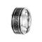 Ring silber mit schwarzem Carbon