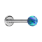 Micro Labret silber mit Kugel Opal blau