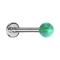 Micro Labret silber mit Kugel Opal grün