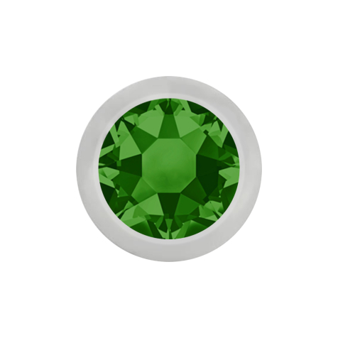 Micro Kugel silber mit Kristall grün