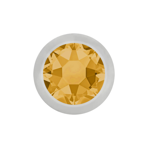 Kugel silber mit Kristall topaz