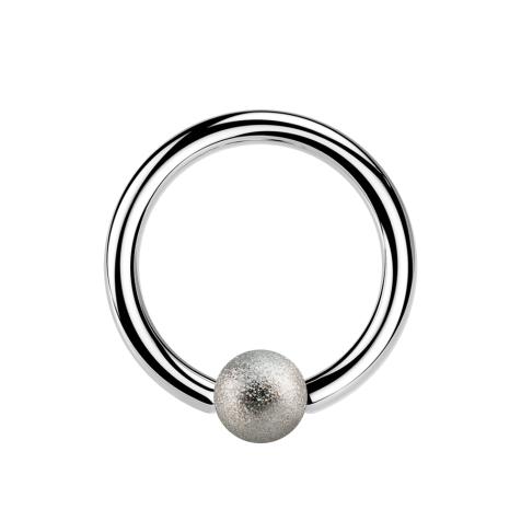 Micro Ball Closure Ring silber gesprenkelt
