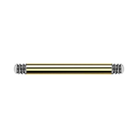 Micro Barbell-Stab vergoldet