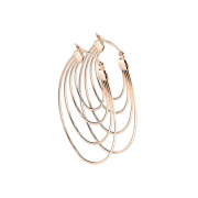 Ohrring rosegold vier Ovale