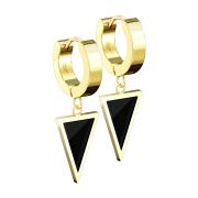 Ohrring zum Klappen vergoldet Anhänger Dreieck