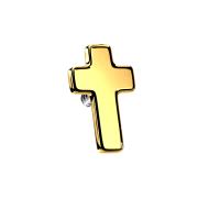 Dermal Anchor Kreuz vergoldet