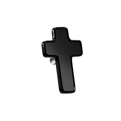 Dermal Anchor Kreuz schwarz