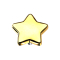 Dermal Anchor Stern vergoldet