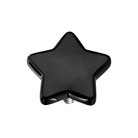 Dermal Anchor Stern schwarz