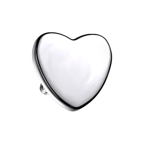 Dermal Anchor Herz silber
