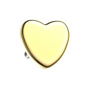 Dermal Anchor Herz vergoldet
