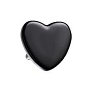 Dermal Anchor Herz schwarz