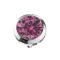 Dermal Anchor silber mit Kristall pink