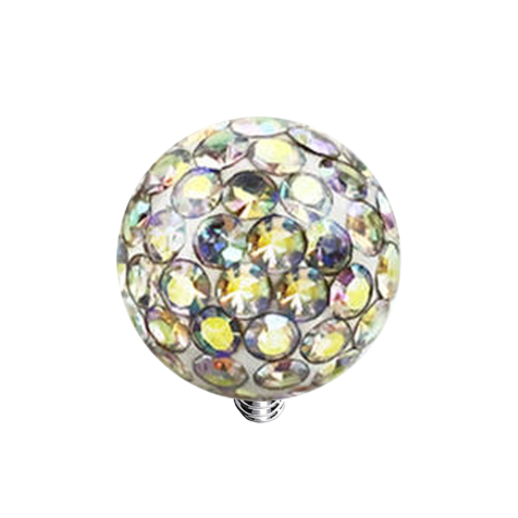 Dermal Anchor Kristall Kugel multicolor Epoxy Schutzschicht