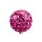 Dermal Anchor Kristall Kugel pink Epoxy Schutzschicht