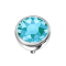 Dermal Anchor Halbkugel silber mit Kristall aqua