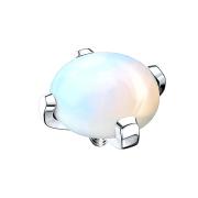 Dermal Anchor Kuppel mit Opalite Stein