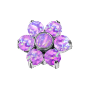 Dermal Anchor Blume Opal violett