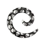 Dehnspirale schwarz mit Totenkopf