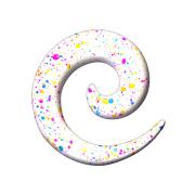 Dehnspirale weiss mit farbspritzer