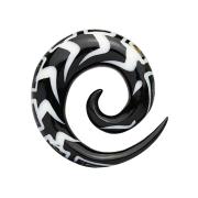 Dehnspirale mit Abalone aus Wasserbüffelhorn
