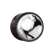 Flared Plug aus Sonoholz mit Silberzinn