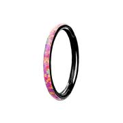 Micro Segmentring klappbar schwarz seitlich Opal streifen...