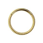 Micro Segmentring geflochten vergoldet klappbar