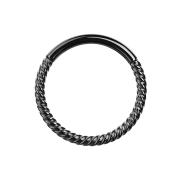 Micro Segmentring klappbar geflochten schwarz