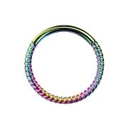 Micro Segmentring klappbar geflochten farbig