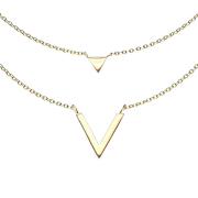 Kette vergoldet Anhänger Dreieck und V