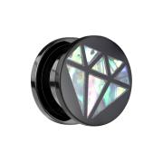 Flared Plug Diamant aus Abalone