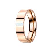 Ring rosegold mit Opal streifen