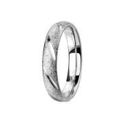 Ring silber gesprenkelt mit Diagonalen schnitte