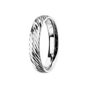 Ring silber mit Diagonalen schnitte