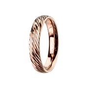 Ring rosegold mit Diagonalen schnitte