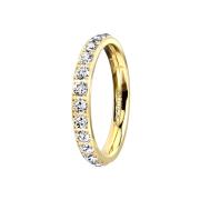Ring vergoldet mit Kristallen